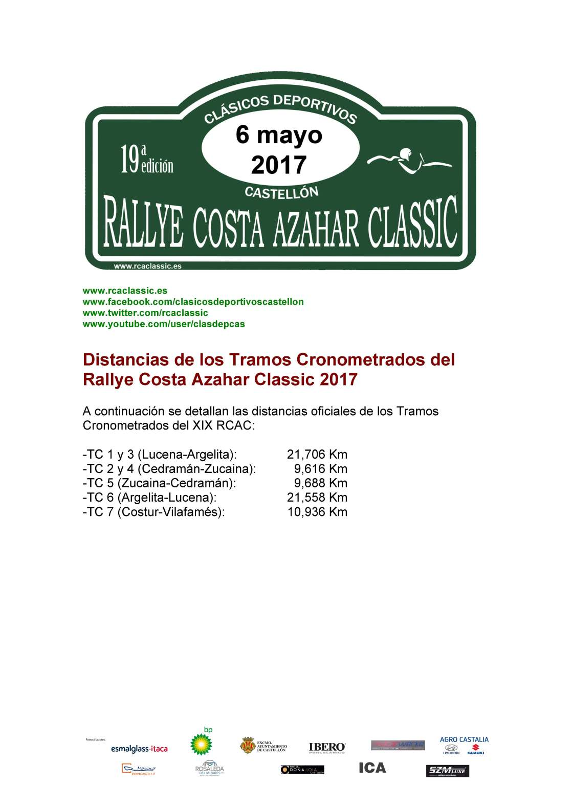 05 Distancias Tramos RCAC 2017